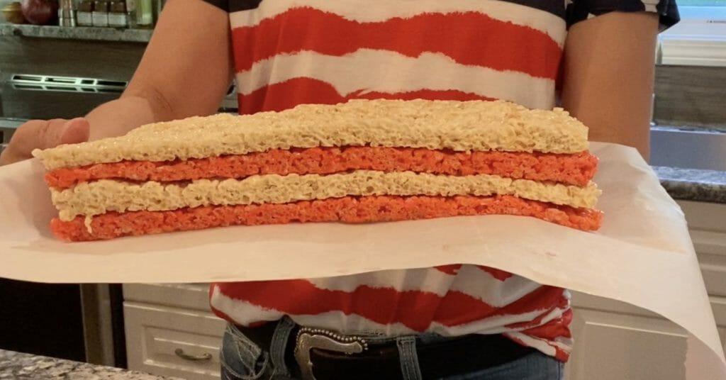 american flag rice krispie treats recipe